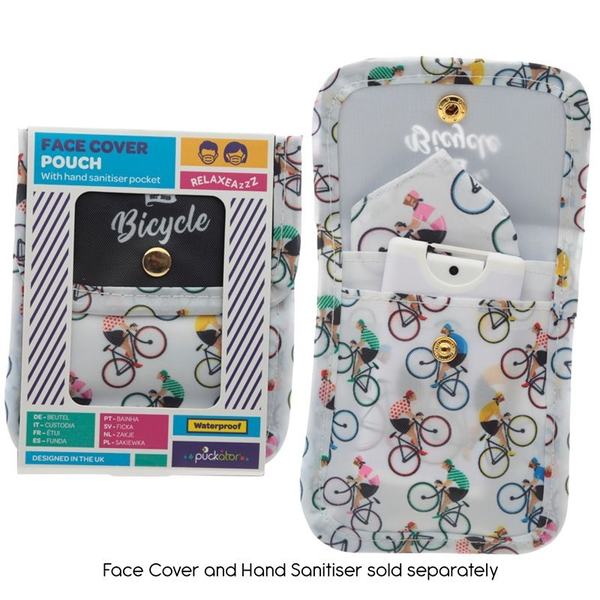 Cycle Works Cycling Bicycle Design Face Covering & Hand Sanitiser Pouch