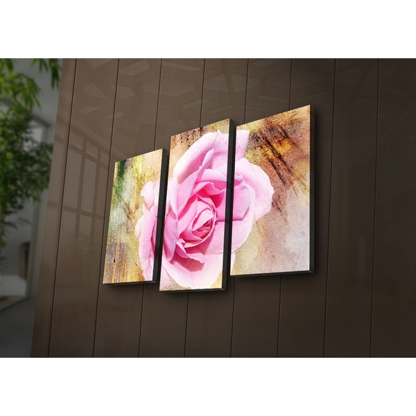 3PAT?ACT-16 Multicolor Decorative Led Lighted Canvas Painting (3 Pieces)
