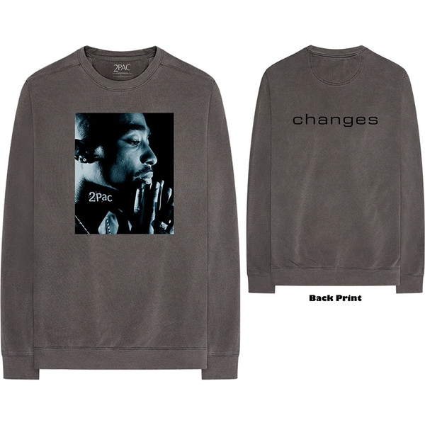 Tupac - Changes Side Photo Unisex X-Large T-Shirt - Grey