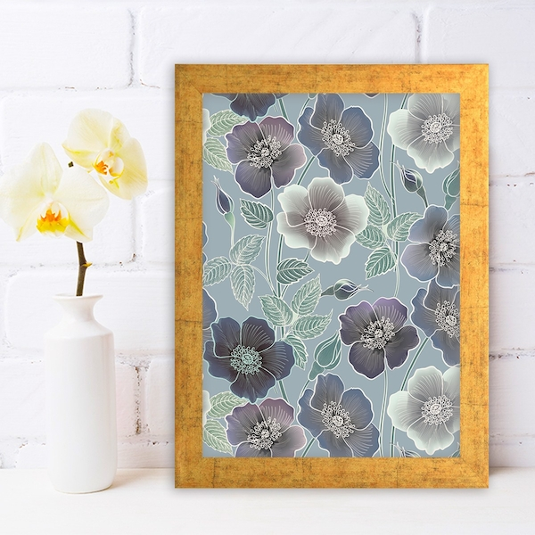 AC342620009 Multicolor Decorative Framed MDF Painting