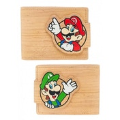 Nintendo Super Mario Bros. Mario & Luigi with Pop-lock Clip Unisex Bi-Fold Wallet