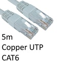 RJ45 (M) to RJ45 (M) CAT6 5m White OEM Moulded Boot Copper UTP Network Cable