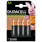 Duracell HR6-B AA 1300mAh Rechargeable 4 Pack
