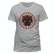 Black Panther Movie - Logo In Circle Men's XX-Large T-Shirt - Grey