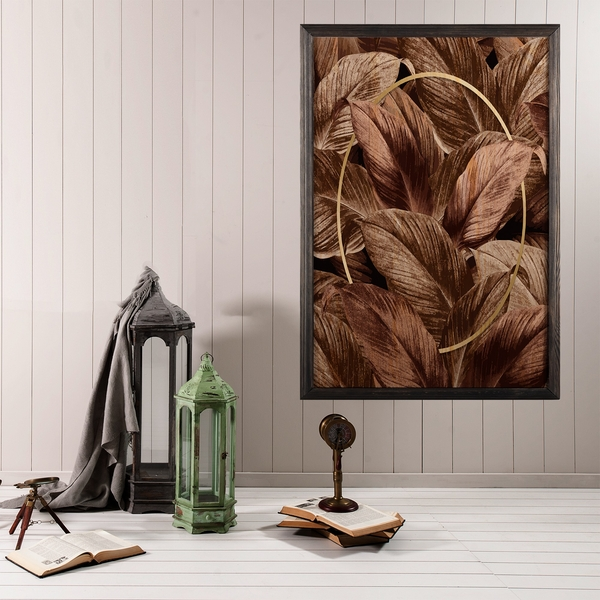 Fall XL Multicolor Decorative Framed Wooden Painting