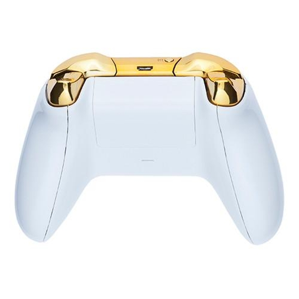 Piano White & Gold Xbox One Controller - 365games co uk