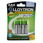 Lloytron B1004Rechargeable Accuultra AAA Ni-MH Batteries 1100mAh 4 Pack