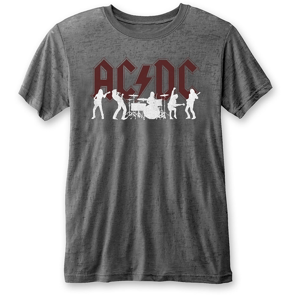 AC/DC - Silhouettes Unisex X-Large T-Shirt - Grey