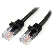 StarTech 1m Cat5e Black Snagless RJ45 UTP Cat 5e Patch Cable - 1m Patch Cord