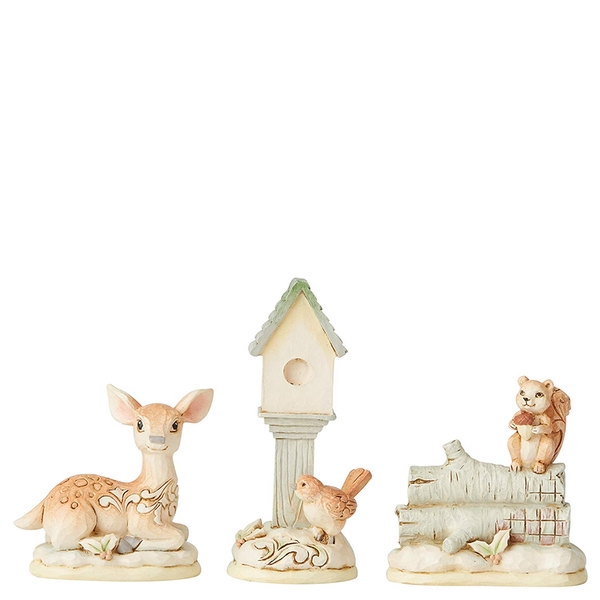 White Woodland Mini Accessory (Set of 3) Figurines