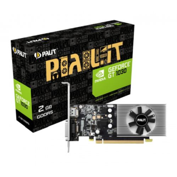 Palit GeForce GT1030, 2GB GDDR5, PCIe3, DVI, HDMI, 1468MHz, Low Profile (No Bracket)