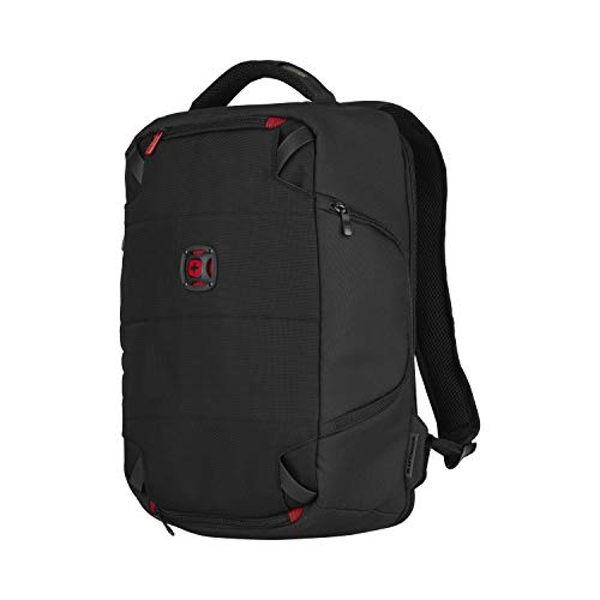 "Wenger 606488 TECHPACK 14"" Laptop Backpack, for Tech Equipment with Fully customizable padded dividers in Black {12 Litres}"