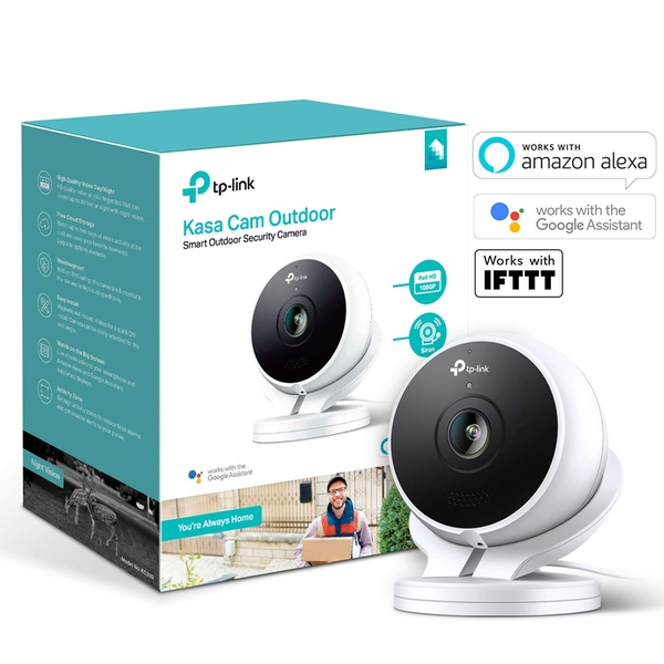 TP-LINK (KC200) Kasa Cam Outdoor Wireless Surveillance Camera UK Plug - Image 1