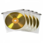 CD/DVD Double Protective Sleeves (pack of 50 - white)