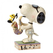 The Blues Beagle Joe Cool & Woodstock (Peanuts) Figurine