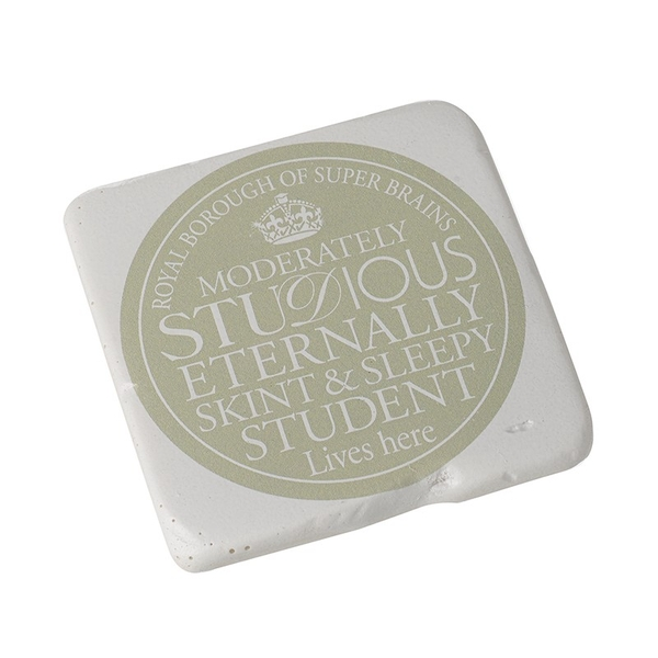Square Coaster  Skint Sleepy Student By Heaven Sends