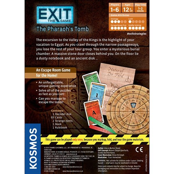 Exit: The Pharaoh's Tomb Board Game - Image 3