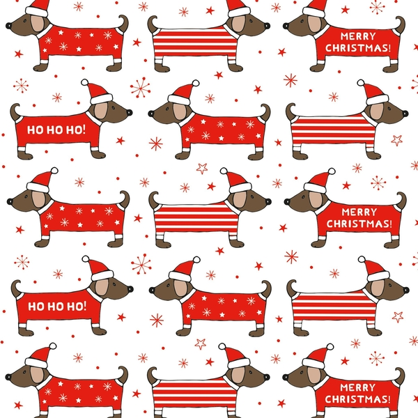 Sass & Belle Christmas Dachshund Wrapping Paper