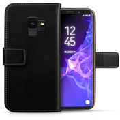 Caseflex Samsung Galaxy S9 Genuine Leather Wallet - Black
