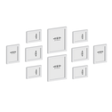 Set of 10 Picture / Photo Frames | M&W White