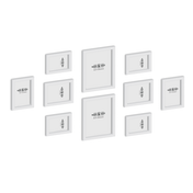 Assorted Photo Frames - Set of 10 | M&W White