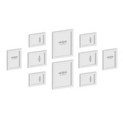 Set of 10 Picture / Photo Frames | M&W White New