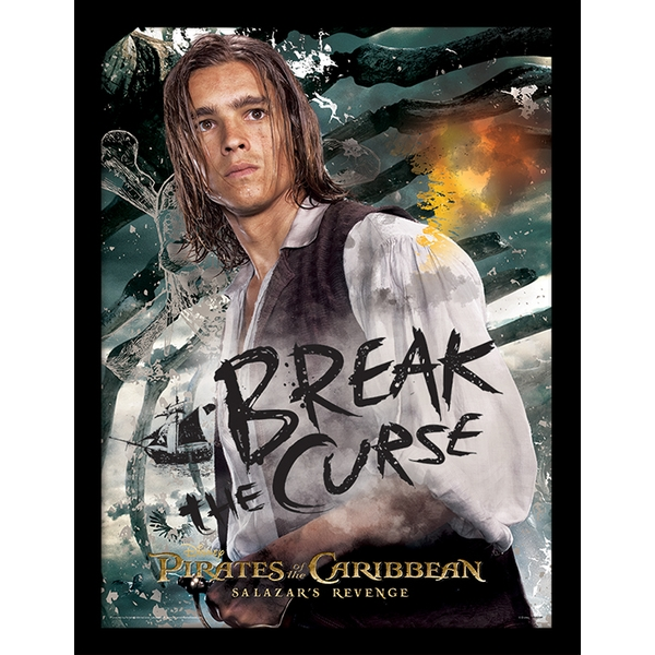 Pirates of the Caribbean - Break The Curse Framed 30 x 40cm
