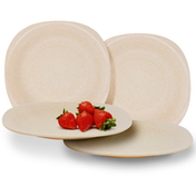 Set of 4 Eco Friendly Wheat Straw Plates | M&W