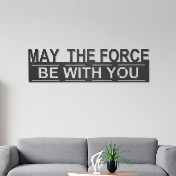 The Force Black Decorative Metal Wall Accessory