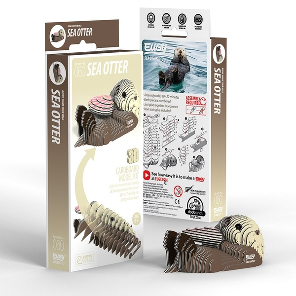 EUGY Sea Otter 3D Craft Kit