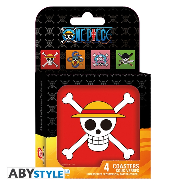 One Piece - Skulls Coasters (Set Of 4)