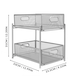 2 Tier Sliding Steel Shelves | M&W - Image 6
