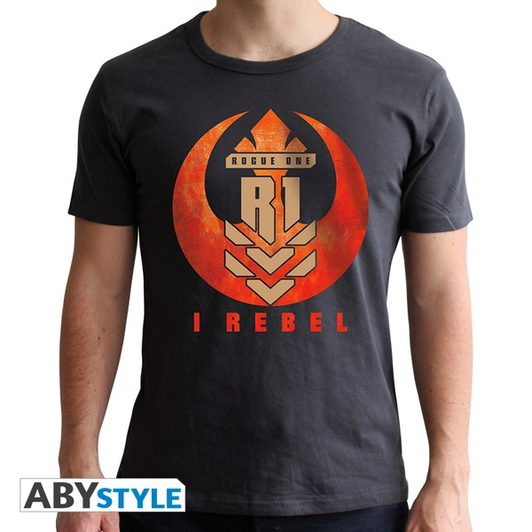 Star Wars - I Rebel Men's X-Large T-Shirt - Grey