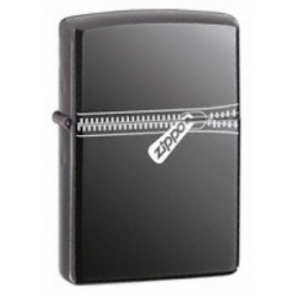 Zippo Zipped Black Ice Windproof Lighter - Image 1