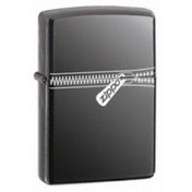 Zippo Zipped Black Ice Windproof Lighter