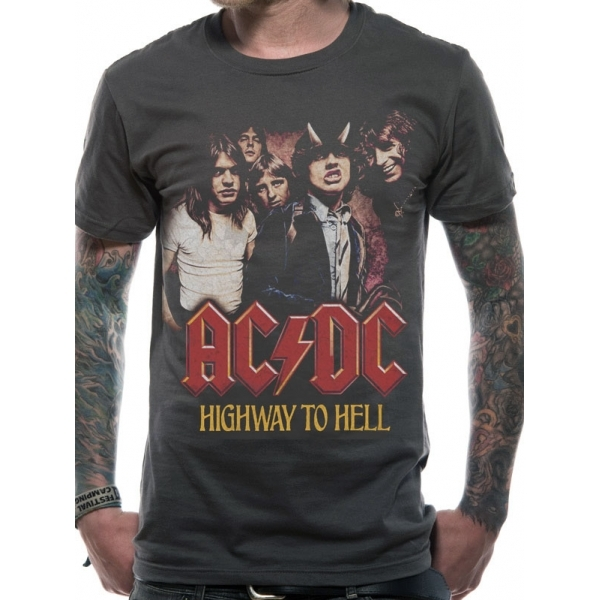 AC/DC H2H Photo T-Shirt Large - Grey