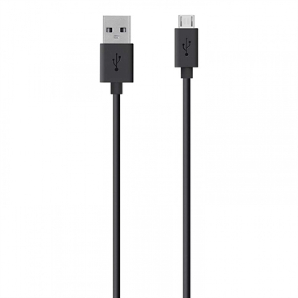 Image of Belkin 3m USB to Micro-USB Charge and Sync Cable Black
