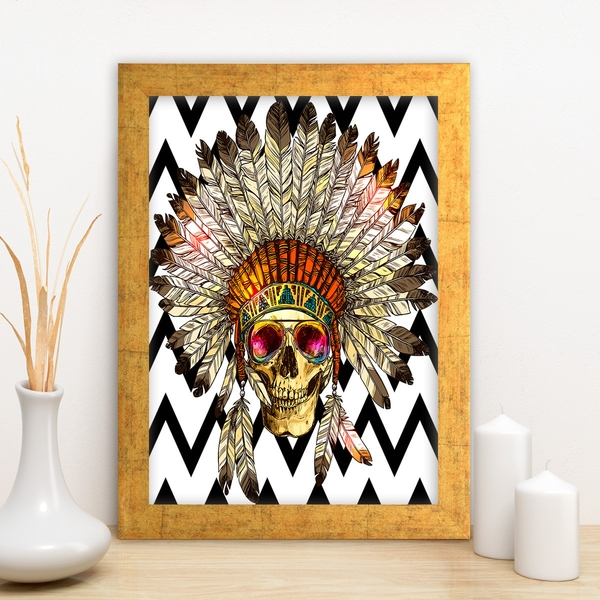 AC4475944424 Multicolor Decorative Framed MDF Painting
