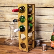 M&W Bamboo Wall Mounted Wine Rack