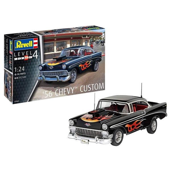 56 Chevy Custom 1:24 Scale Level 4 Revell Model Kit - Image 1