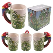 Jungle Mug with Parrot Shaped Handle