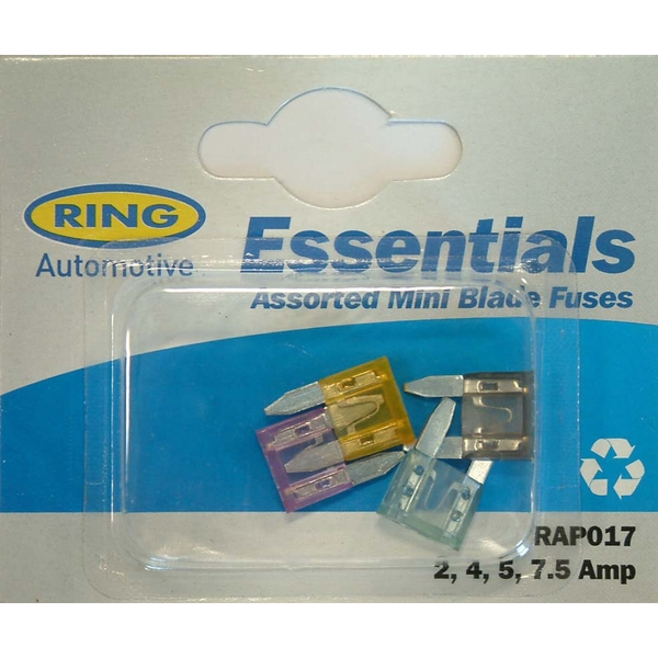 Ring Blade Fuses Mini Blade Fuses 2, 3, 4, 5, 7 amp