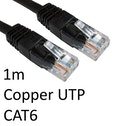 RJ45 (M) to RJ45 (M) CAT6 1m Black OEM Moulded Boot Copper UTP Network Cable