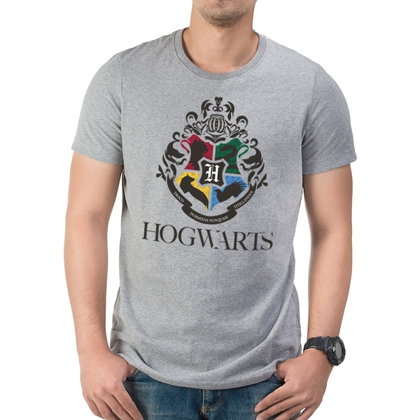 Harry Potter - Modern Crest Large Unisex T-shirt - Grey