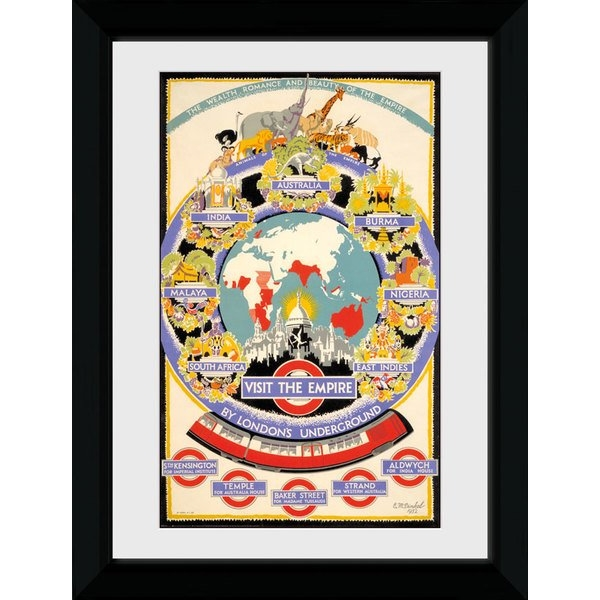 Transport For London Visit The Empire 50 x 70 Framed Collector Print