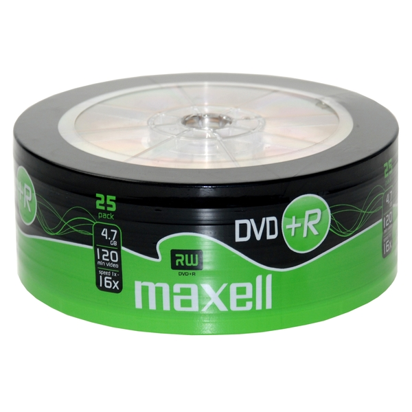 Maxell DVD+R 25 Pack Shrink Wrap