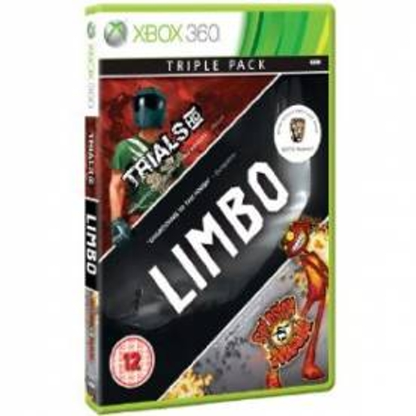 Xbox Live Hits Collection Limbo Trials HD and Splosion Man Game Xbox 360
