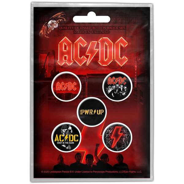 AC/DC - PWR-UP Button Badge Pack