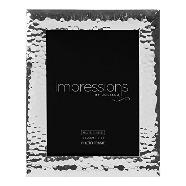 "6"" x 8"" - Impressions Silver Hammered Photo Frame"