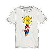 Nintendo Super Mario Bros. Mario Breaking Block Mens X-Large White T-Shirt